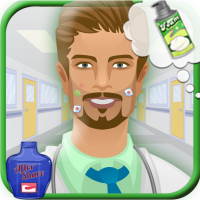 لعبة الحلاقة الرائعة A Ambulance Doctor Beard Shave Makeover