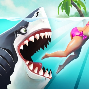 لعبة الأكشن Hungry Shark World